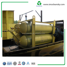 ISO9809 356mm 25MPa 145L CNG Cylinder Type 4 for Storage