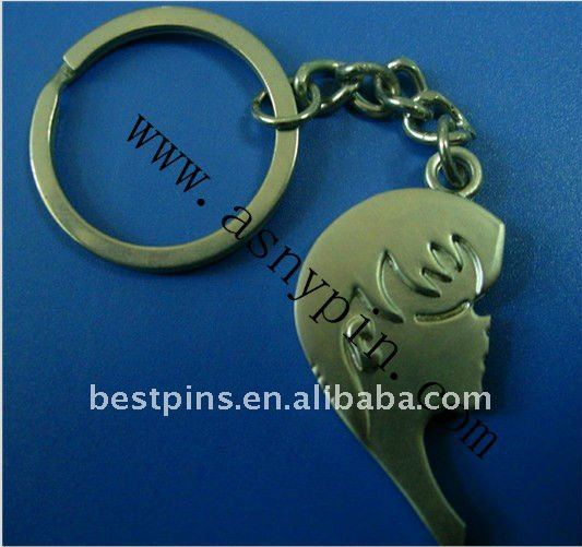promotional man face design zinc alloy metal key ring