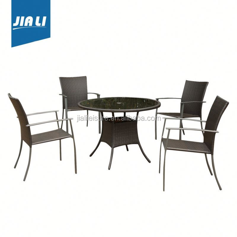 Reasonable & acceptable price factory supply dining round table and chair set kd