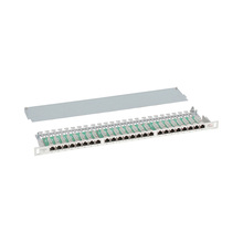 High Density half U 19 inch network SFTP shielded RJ45 24 port Cat6 Patch Panel