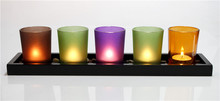 Glass Material and Tea Light Holder Type Wedding Flower stands candle holder