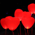 Red Heart Led Flashing Balloons For Wedding and Party Decorations