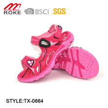 TPR Sole and PU Upper Suit for Children, Sporty Sandals
