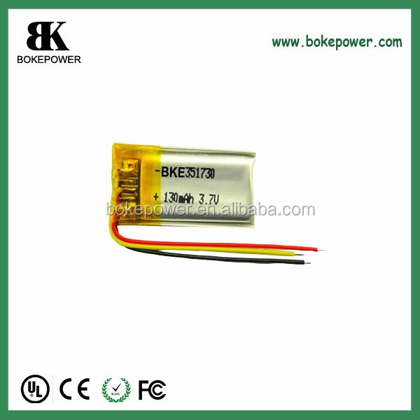 polymer lithium battery 301630 3.7V 100mah little small battery rechargeable
