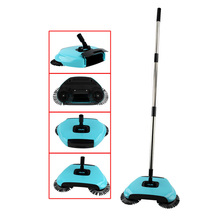 Toprank 360 Rotary Home Use Magic Manual Telescopic Floor Dust Sweeper Hand-propelled Floor Sweeper