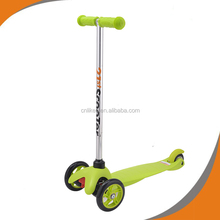 Factory direct supply plastic and steel child 3 wheel scooter car