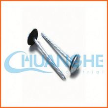made in china electric galvanized umbrella head twisted ring shank roofing nails