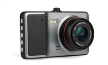 1080+720P Dual Camera Car DVR Full HD 1080P Car Camera 4.0 inch Big Screen H.264 Dash Camera
