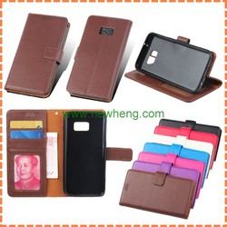 Fashion Leather Flip Wallet Card Holder Cell Phone case for samsung galaxy s7