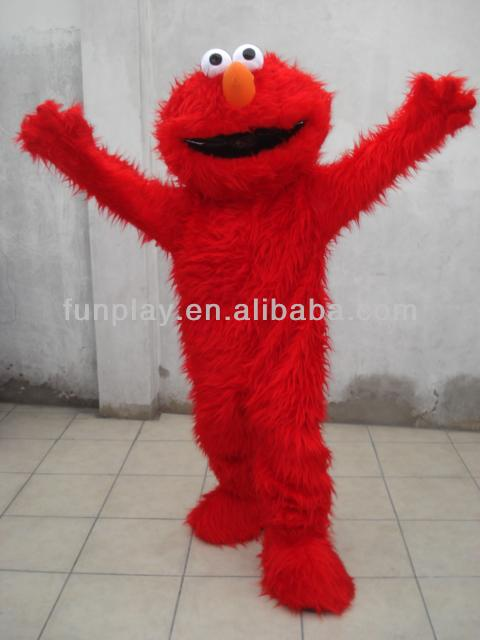 HI Best design minion elmo mascot costume for adult,cartoon cahracter mascot costume for hot selling