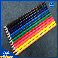 7 inch 12pcs wooden triangle color pencil