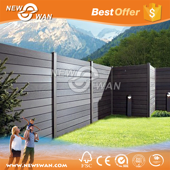 Black WPC Decking / WPC Fence Manufacturer