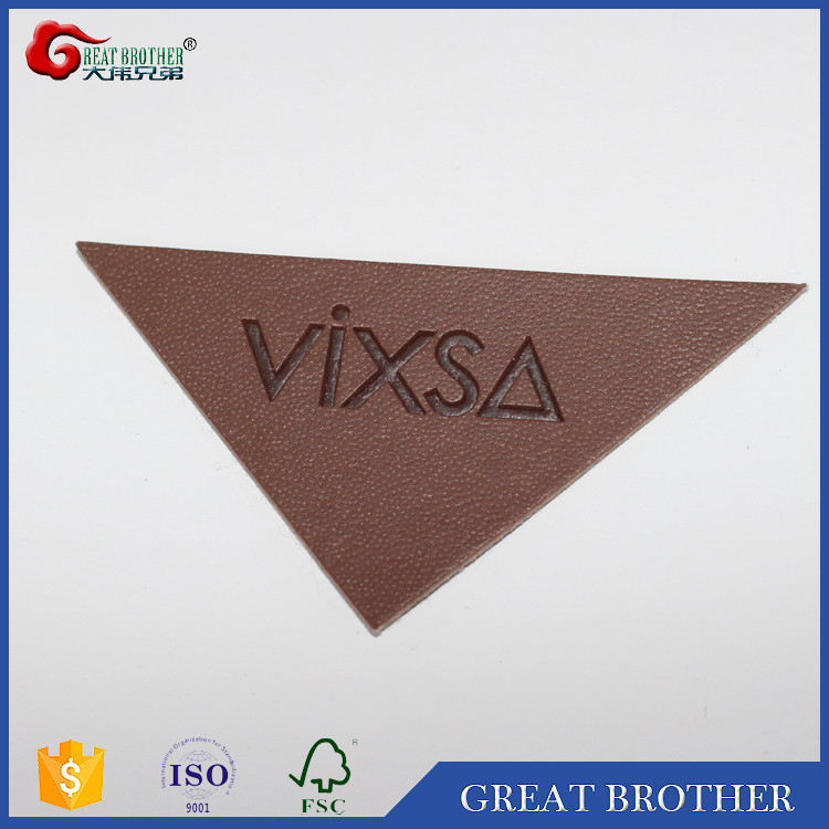 custom jeans pu branded leather patch for clothing