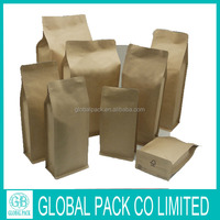 Moisture proof brown kraft paper coffee packaging bag with valve