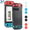 High quality for Nintendo Switch console TPU case protective cover with 8 joy-con thumb grips for Nintendo switch