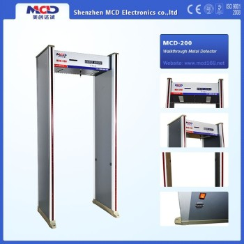 Walkthrough Metal Detector / door frame metal detector with 6 zones MCD-200