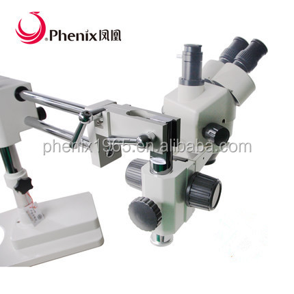 368mm high china dental microscope with Gymbal Adjustable Professional Trinocular Medical Stereo Microscope