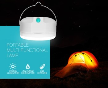 2017 new arrival Emergency lamp and camping lamp with usb mobile charging