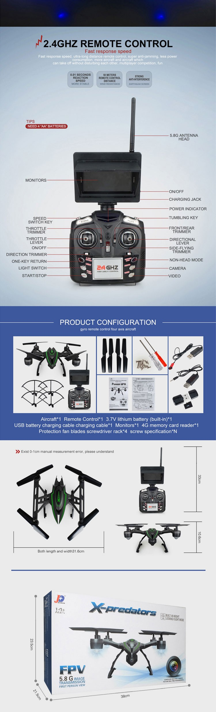 JXD 510G FPV Drone Professional