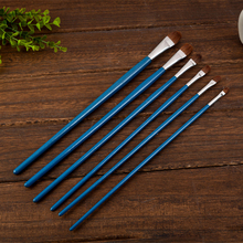Bona 6Pcs/set Weasel Bristle Wooden Handle Canvas Painting Brush for drawing