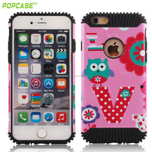 hot anti-scratch clear pc+tpu cell phone case for Iphone6