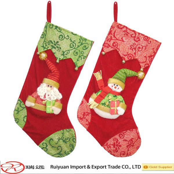 Cheapest!!! DIY Design All Kinds of 56cm Christmas Felt Stockes Made in China