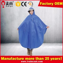 Maiyu high quality waterproof mixed color rain poncho for bicycle