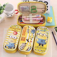 (Hot) 2016 Wholesale Kids Cheap Stationary Despicable Me Pencil Case, Custom Pencil Box, Carton Pencil Bag