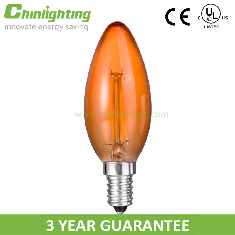 Led bulb distributor c35 amber milk wholesale led bulb price