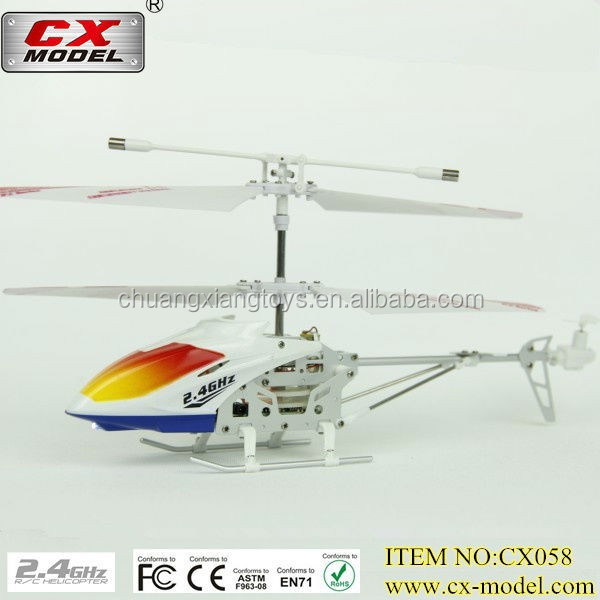 factory price 3.5channel with 2.4GHz bell rc helicopter cx058