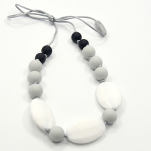 Chewable Necklace Silicone Rubber Necklace, Food Safe Fashion Bead Teething Jewelry Wholesale