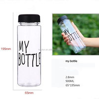 500ml Plastic Sports Drinking Water My Bottles Lemon Juice Readily Cup Drinking Water New Popular Clear Fruits
