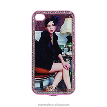 Best sale packaging diamond sublimation blank phone cases for iPhone 4