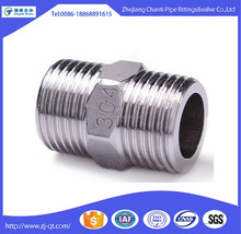 Stainless Steel 316l BSP Hex Double Pipe Screw Nipple