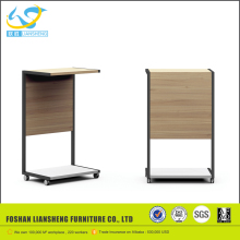 Simple design training office table price, wooden speech desk speech table