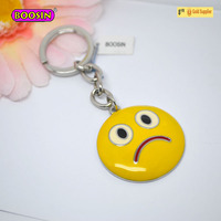 Wonderful face emoticon metal key chains charms# 15771