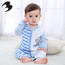 Newborn Baby Warm Long Sleeve Romper Outfits Bodysuit Clothes Organic Cotton Baby Boy Clothing