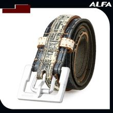 Fashion Holes Colored Leather Belts