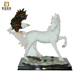 Wholesale home decoration polyresin animal shape figurine resin horse sculpture