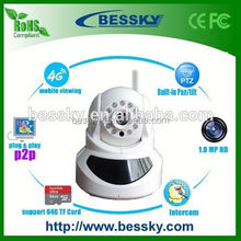 1.0 MP rotator for cctv camera P2P Network home baby monitor