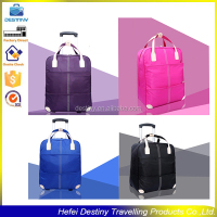 new design waterproof travel trolley square bag