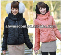 2013 NEWEST WINTER WOMAN'S FASHION ROUND COLLAR COTTON COAT