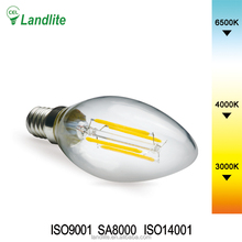 3.5W Dimmable LED Filament Candle Light Bulb, 3200K Soft White 600LM, E14 Medium Base Chandelier Lamp