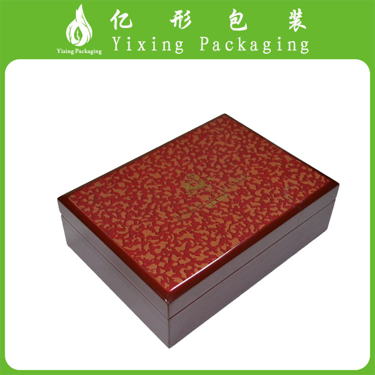 Customized real wood solid designed wedding invitation card box