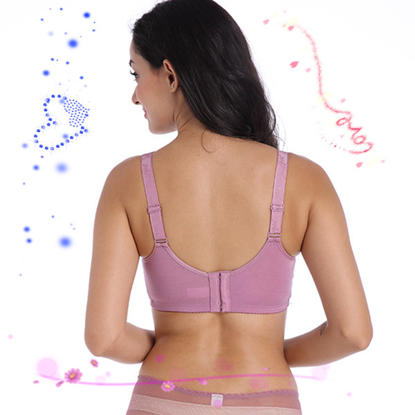 Super Soft and Comfortable Mastectomy Bra 6028 75-95ABCD Artificial Breast Bra with Pockets for Breast Cancer Women