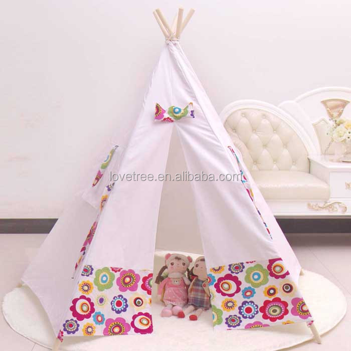 wholesale cotton pop up indoor outdoor play tent for childrens
