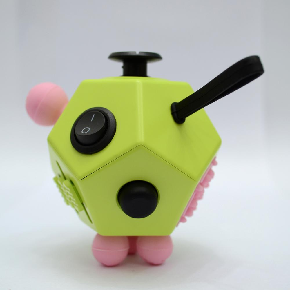 Anti Stress Fidget Cube Hot Products Adults Stress Relief <strong>Toys</strong> 12 Sided fidget cube