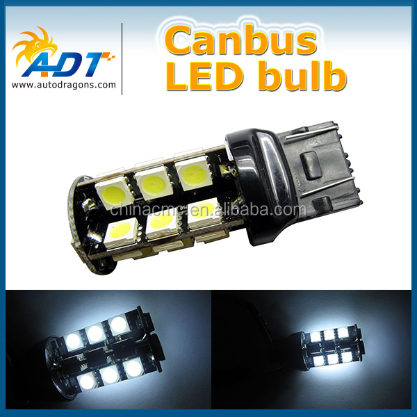 High Beam Low Beam 7443 Tail Stopping Bulb Top Bright LED Indicator Light SMD Auto Dome Light