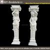Hand Carved Natural Stone Decorative Marble Stone Column