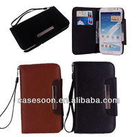 Flip Genuine leather case for samsung galaxy note 2 leather case, N7100 leather case,Note 2 N7100 case